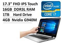 "Compara precios de 2017 NEW HP ENVY 17.3"" Full HD IPS High Performance Gaming & Business Touchscreen Laptop - Intel Dual-Core i7 CPU, 16GB RAM, 1TB HDD, 4GB NVIDIA GeForce 940M, Backlit Keyboard, DVDRW, WLAN, Windows 10"