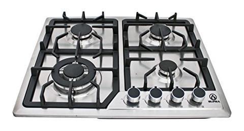 Supra 4q ea estufa de empotrar 4 quemadores fabricada en for Estufa whirlpool acero inoxidable
