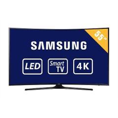 """Compara precios de Televisor Samsung UN55MU6350FXZX Curva 55"""" 4K Smart TV"""